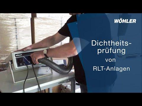 Dichtheitsprüfung von RLT-Anlagen