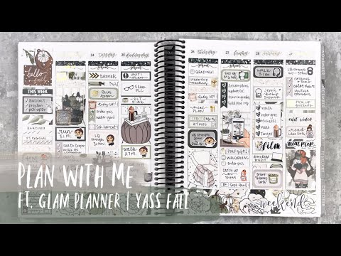 FALL PLAN WITH ME | ft. glam planner | erin condren vertical