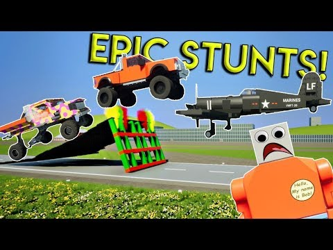 EPIC MULTIPLAYER STUNTS & CRASHES! - Brick Rigs Multiplayer Gameplay - Stunt Challenge