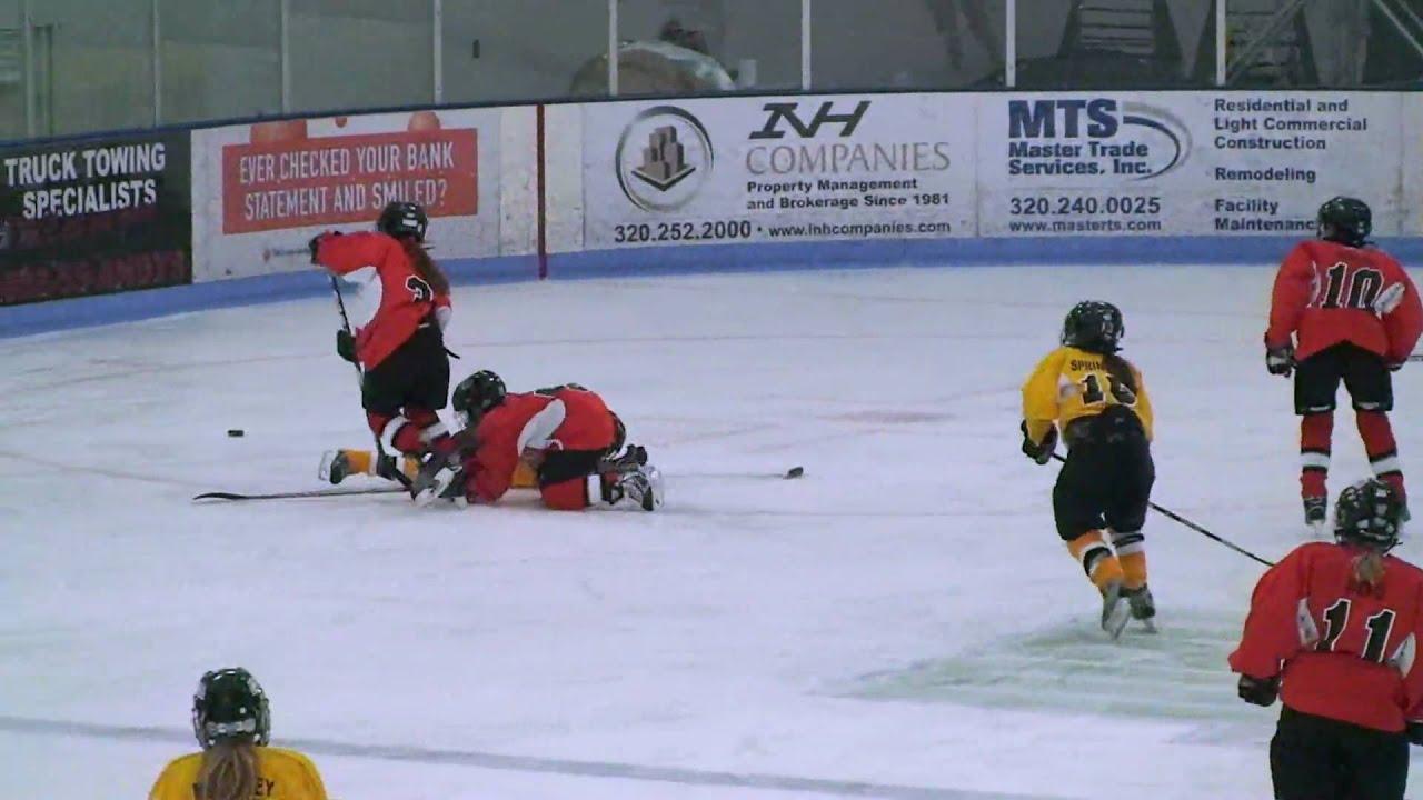 2010 Minnesota Selects Hockey Tournament Calla Frank In Goal Youtube