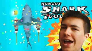 HUNGRY SHARK EVOLUTION | EPIC NEW UPDATE! CRAZY JETPACK GADGET & BUILDING THE STATUE!