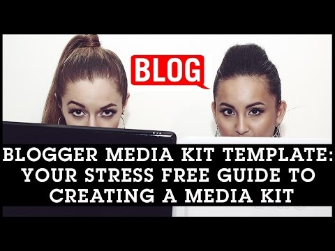Blogger Media Kit Template: Your Stress Free Guide to Creating a Media Kit