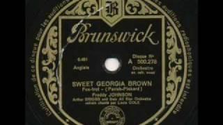 Freddy Johnson &  Arthur Briggs, Sweet Georgia Brown. Paris 1933