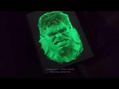 Glowing Sand Art ( Surprise ending )