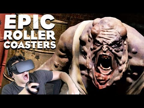 THOSE FREAKIN' ZOMBIES COOKED ME ALIVE!!!! - Epic Roller Coasters (Dread Blood & Rock Falls) [VR]