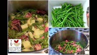 Southern Green Beans, Potatoes, and Smoked Turkey - Soul Food - I Heart Recipes
