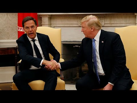Watch: Dutch PM Rutte interrupts Trump over trade deal claims