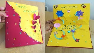 Hand Made New Year Greeting Cards - Paper Crafts || Paper girl