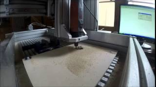 Homemade Cnc Router First Test Run - Cutting Wooden Pinion