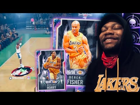 THE DIAMOND DEREK FISHER AND DIAMOND ROBERT HORRY DYNAMIC DUO IS SO FUN TO USE NBA 2K20 MYTEAM
