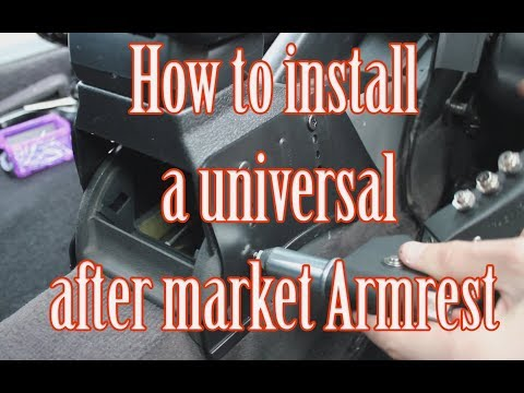 How to install an after market Armrest install into an Audi A3