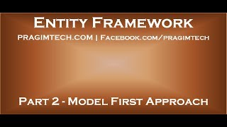 Part 2   Entity Framework Model First Approach
