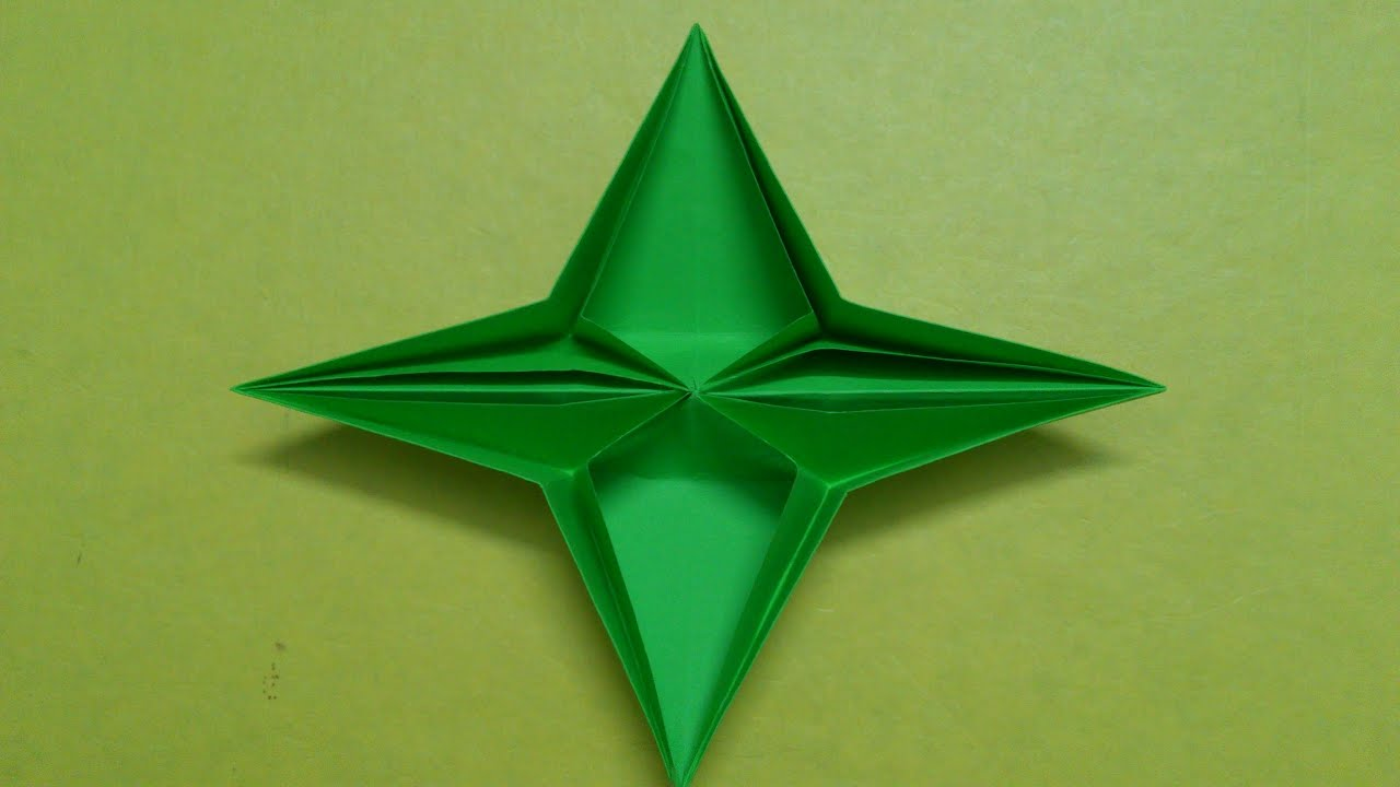 How to make a Four Pointed paper Star or Pop up Star ... - photo#20