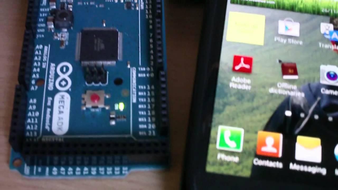Tutorial arduino mega adk y android youtube