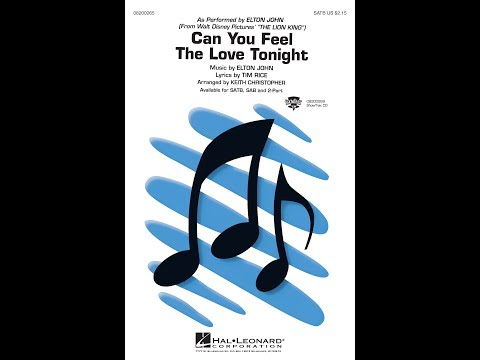 Can You Feel The Love Tonight (from The Lion King) (SATB Choir) - Arranged By Keith Christopher