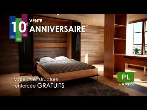promotion 10e anniversaire lit mural matelas gratuits. Black Bedroom Furniture Sets. Home Design Ideas
