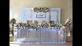 Оформление тканью Алматы, сложная драпировка на свадьбу