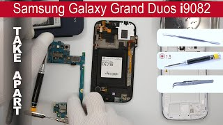 How to disassemble 📱 Samsung Galaxy i9082 (Grand Duos), Take Apart, Tutorial