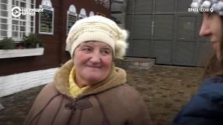 Украинская пенсионерка впервые в Европе