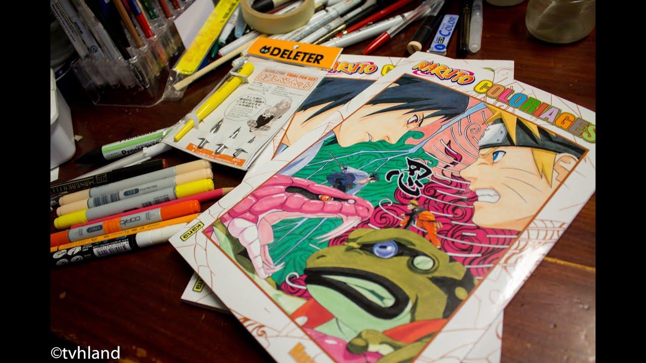 Pr sentation du livre de coloriage naruto de masahi kishimoto edition kana youtube - Coloriage manga livre ...