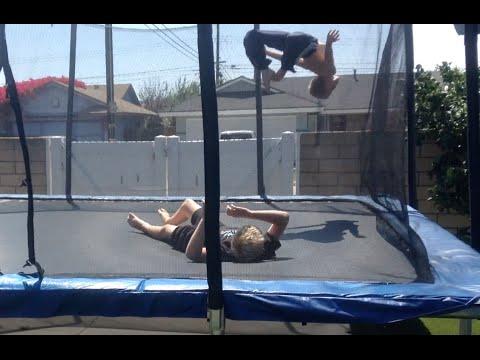 WWE - SUPERSTARS - Chaz Stein vs Gabe Stien vs Jacob Baker [Falls Count Anywhere] (Trampoline)