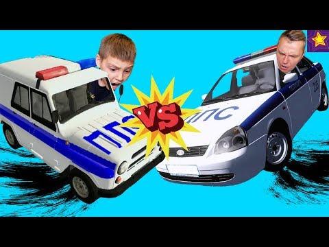 РАЗБИЛИ Полицейский УАЗ ПРОТИВ Лады Приоры !!! ИГОРЬ решил УСТРОИТЬ Батл на МАШИНАХ