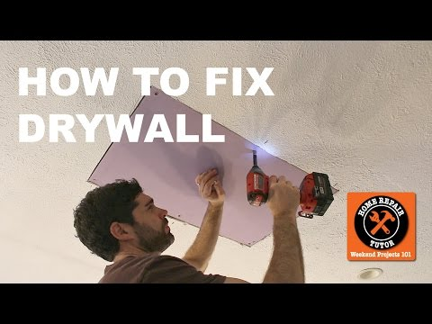 How To Fix Drywall In A Bathroom Or Any Other Room (Step-by-Step)  -- By Home Repair Tutor