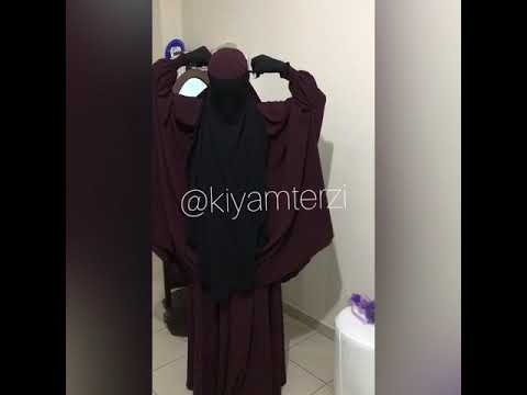 🖤Niqab is my pride   🎥Tutorial nikab jilbab hijab abaya 📐made in kiyamterzi ✂️