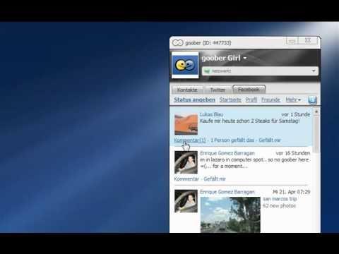 Goober Messenger 3.0: Facebook (deutsch)