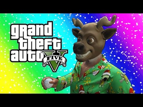 Thumbnail: GTA 5 Funny Moments - Snowball Fights, Snowmen, Delivering Presents! (Christmas Edition)