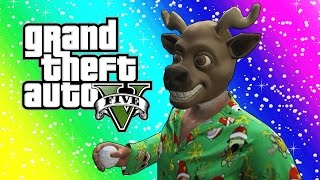 GTA 5 Funny Moments - Snowball Fights, Snowmen, Delivering Presents! (Christmas Edition)