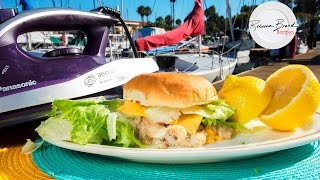 How to Make a McDonald's  Filet O' Fish -  Fish Filet Sandwich with an Iron