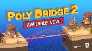 Poly Bridge 2 - Primer puente levadizo