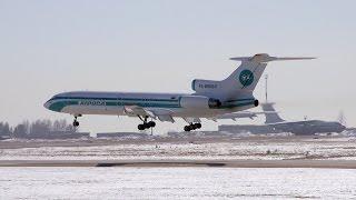 Аварийная посадка Ту-154, 05.01.2017(Сегодня, 05 января 2017, в Якутии г. Мирный алмазной столице республики аварийную посадку совершил самолет..., 2017-01-05T08:10:34.000Z)