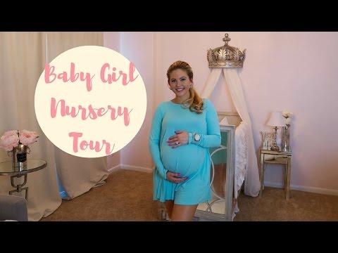 BABY GIRL NURSERY TOUR! | Princess Nursery | Posh Nursery | Pink, Gray & White Nursery