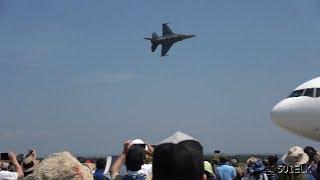 千歳基地航空祭2019•PACAF F-16デモチーム 機動飛行