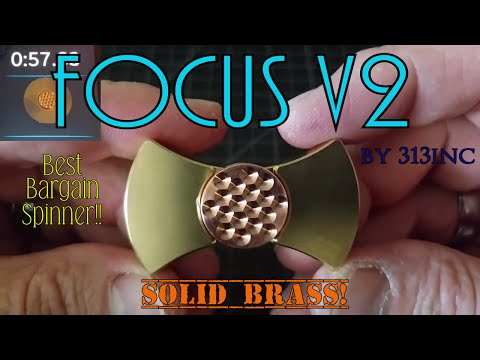 Fidget Spinner Review: Focus V2 Solid Brass Bowtie Style Bar Spinner by 313inc on Etsy