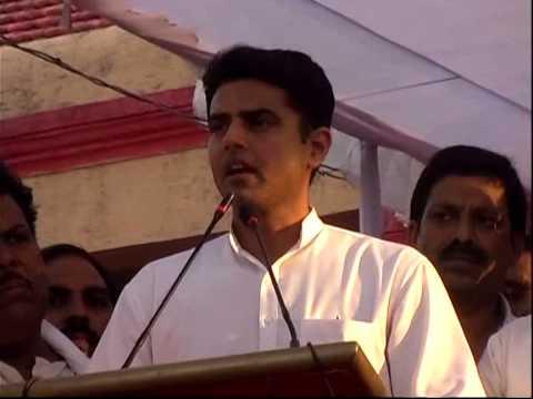 Sachin Pilot and Lt. Nand kumar Patel in a Congress Party Parivartan Yatra Rally Chhattisgarh