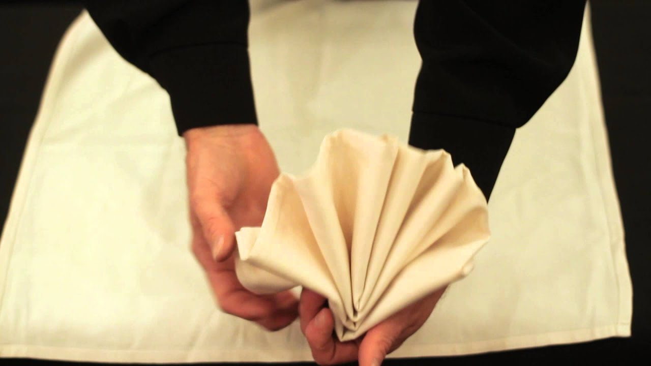 How To Fold A Dinner Party Napkin