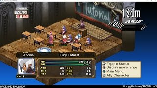 RPCS3 PS3 Emulator - Disgaea 3: Absence of Justice Ingame #3! DX12