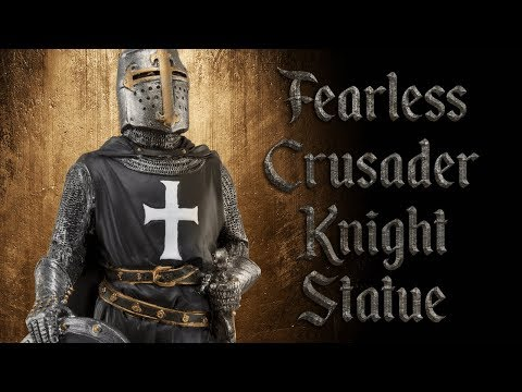 CC11920 Fearless Crusader Knight Statue from Medieval Collectibles