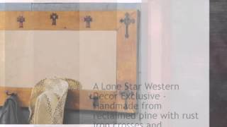Trinity Cross Hat Rack Mirror - lonestarwesterndecor.com