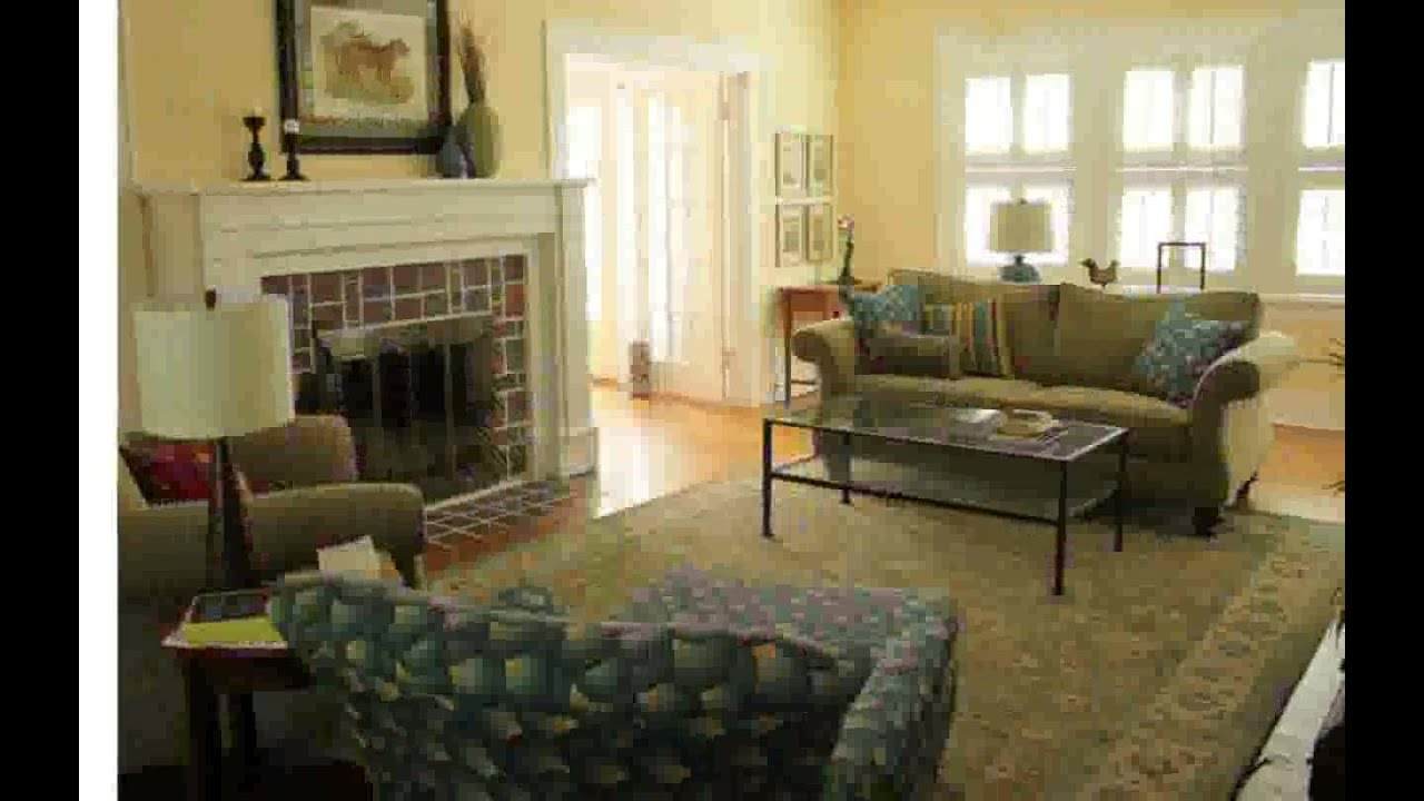 Living room furniture arrangement youtube for Living room arrangements with fireplace