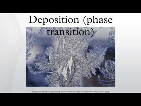 Deposition (phase transition)
