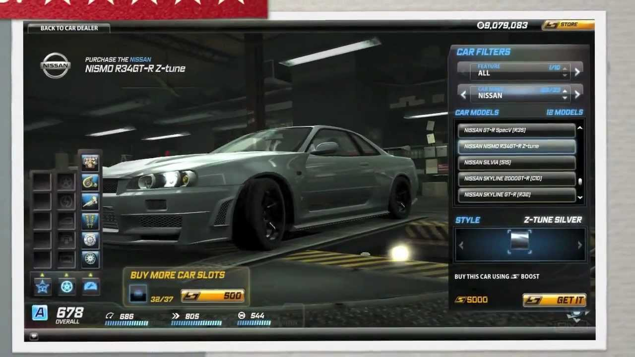 Nissan Skyline Gtr >> Need For Speed World: Nissan NISMO Skyline GT-R R34 Z-Tune ...