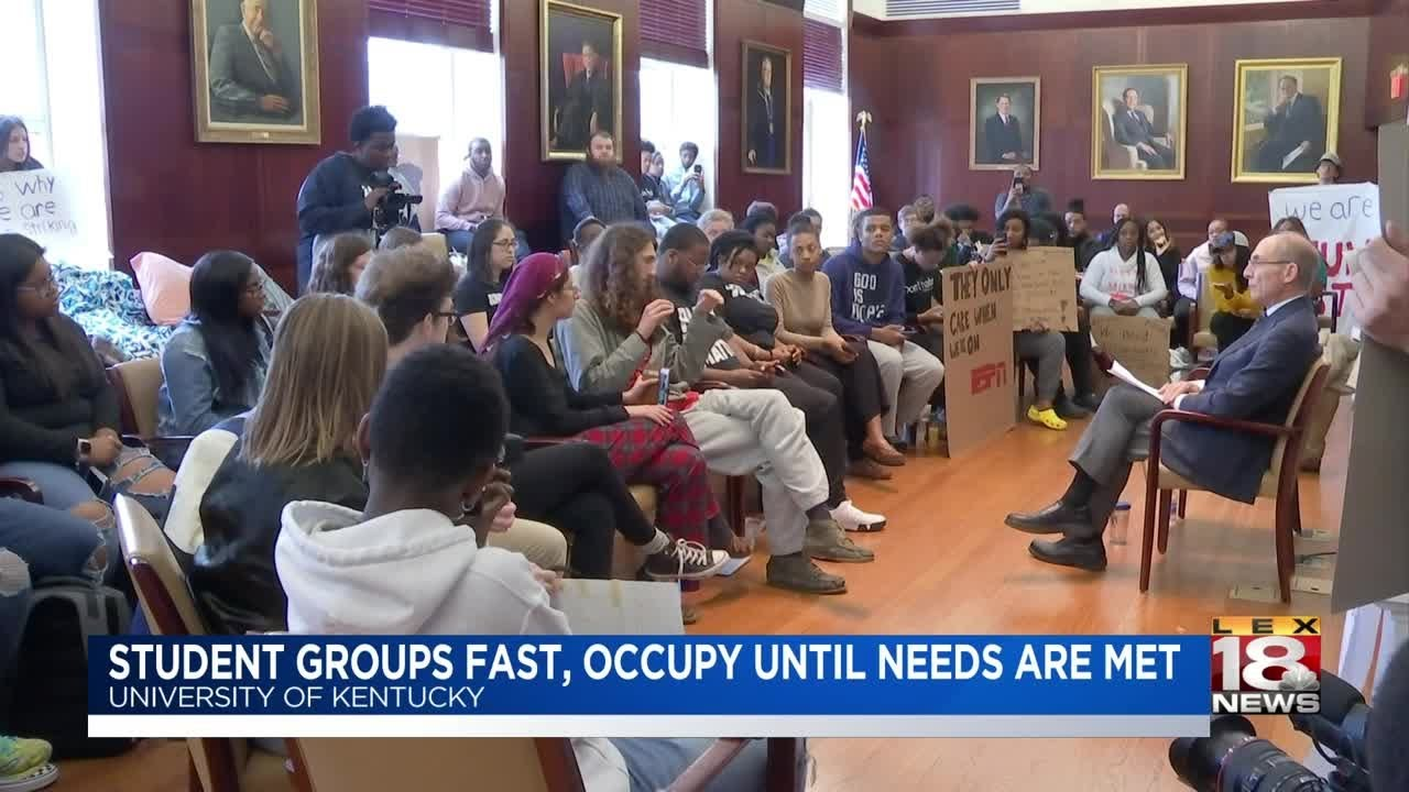 Student Groups Fast, Occupy Until Needs Are Met