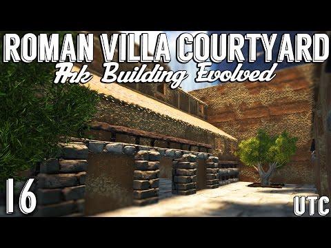 Ark Building Evolved :: Episode 16 :: Roman Villa Courtyard + Olive Trees :: Roman House (Part 4)