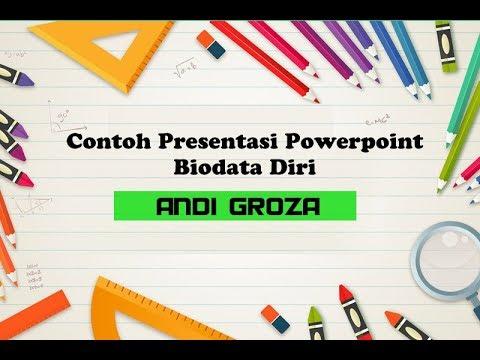 Contoh Presentasi Powerpoint Biodata Diri Yang Keren Tanpa
