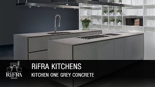 Rifra Kitchen ONE - Kitchen in Grey Concrete