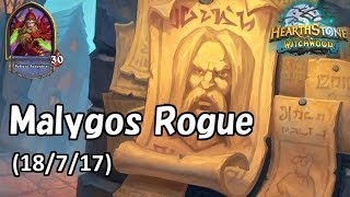 [Hearthstone] Malygos Rogue No Commentary(2018/7/17)